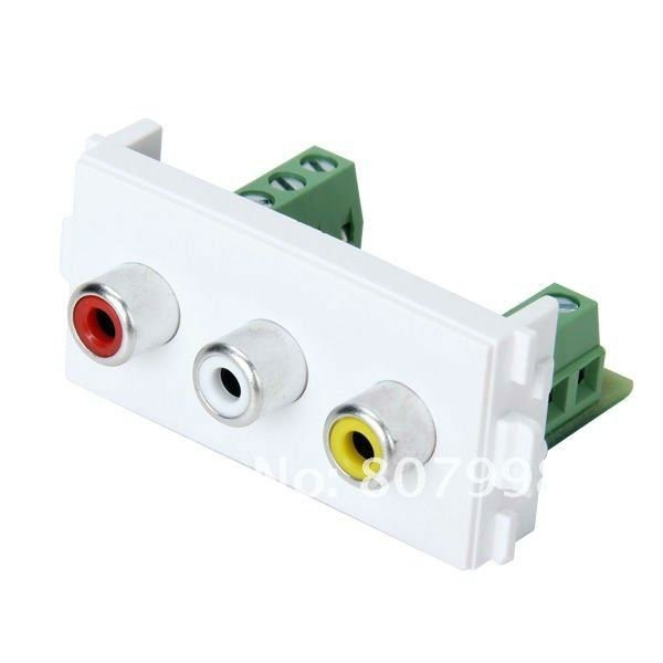 New Plate Panel Audio Video AV Module Component Compatible with 86/120 wall plate