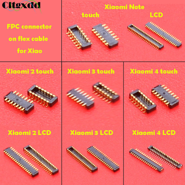Cltgxdd FPC connector socket for Xiaomi Mi2 Mi3 Mi4 Mi Note Touch LCD display screen Connector Port on Cable Repair Replacemen