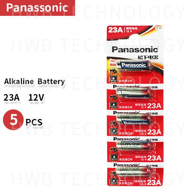 Wholesale 5pcs/lot New 12V Panasonic A23 23A Ultra Alkaline battery/alarm batteries Free Shipping