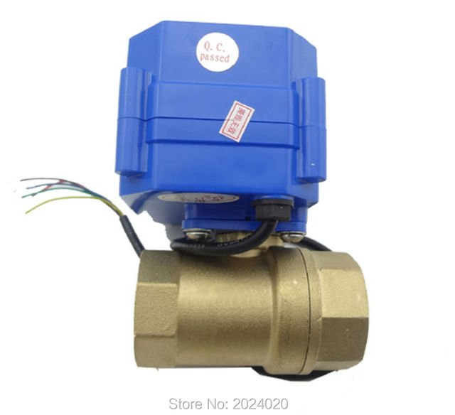 motorized ball valve 220v electrical valve 2 way motorized valve, DN20 (reduce port)