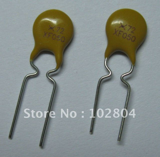 50 pcs 72V 0.5A PolySwitch New Radial Leaded PPTC Resettable Fuse