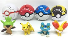 Poke Ball Anime Pokemon Dolls Pocket Monsters Poke Cosplay Props Toys Touch can Flip and Explode