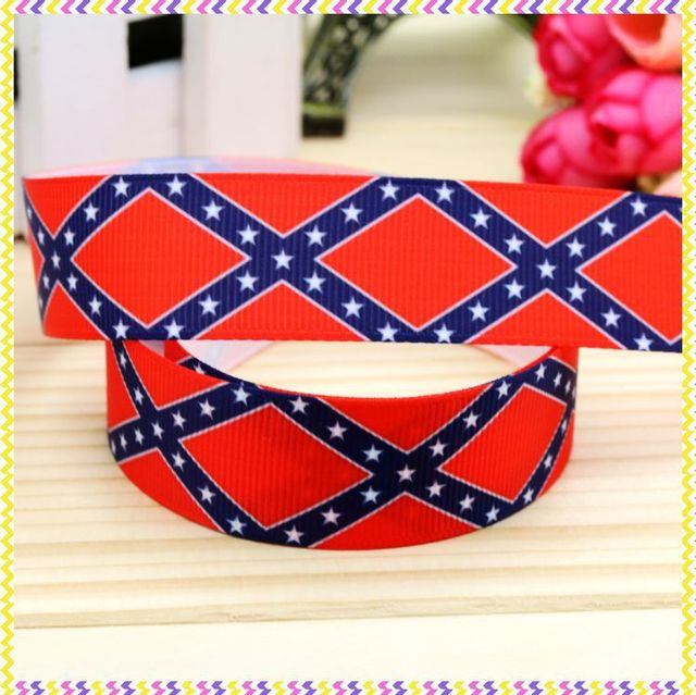 7/8'' Free shipping flag printed grosgrain ribbon hairbow headwear party decoration diy wholesale OEM 22mm P4471