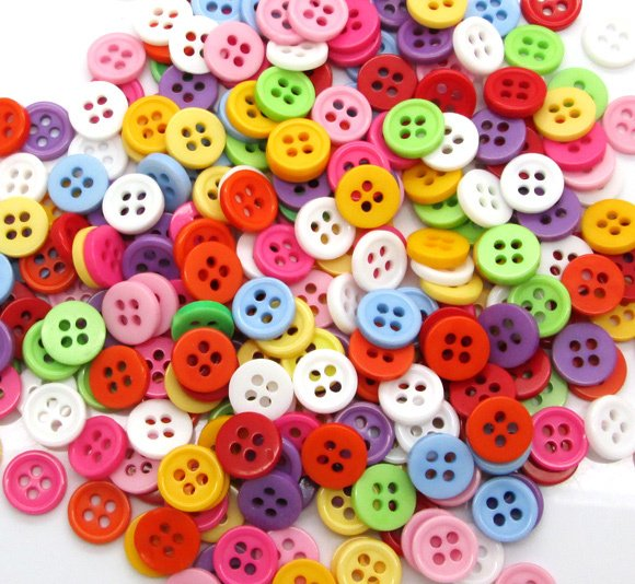 300Pcs Mixed Round Resin Sewing Buttons For Cloth Flatback Cabochon Scrapbooking Crafts Knopf Bouton Decor Diy Accessories