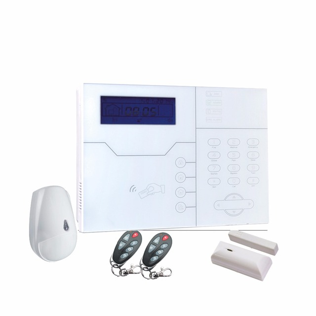 ST-VGT TCP/IP GSM GPRS alarm system French Voice menu home alarm 433mhz GSM  TCP IP home alarm security system