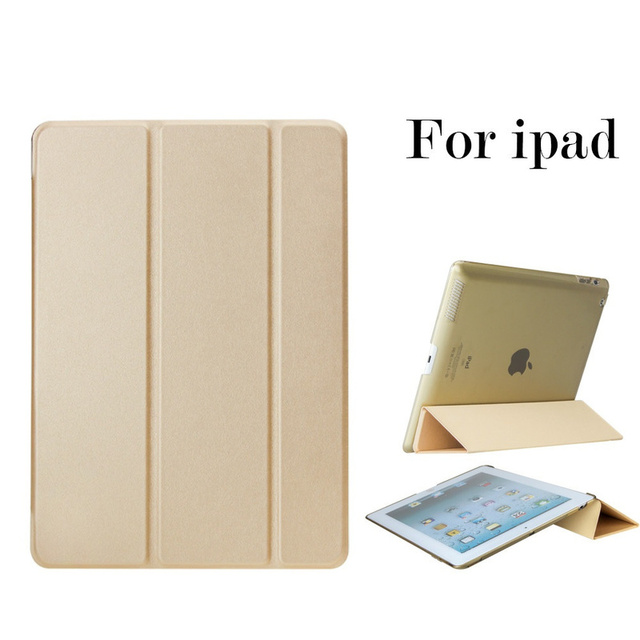 Luxury Smart Sleep/Wake Up Leather Stand Case for IPad Air Pro 9.7 Inch 2017 IPad 2 3 4 I Pad 5 6 Air 1 2 Bracket Folding Cover