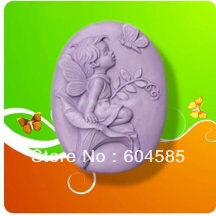 Angel with Butterfly 50048 Craft Art Silicone Soap mold Craft Molds DIY Handmade soap molds