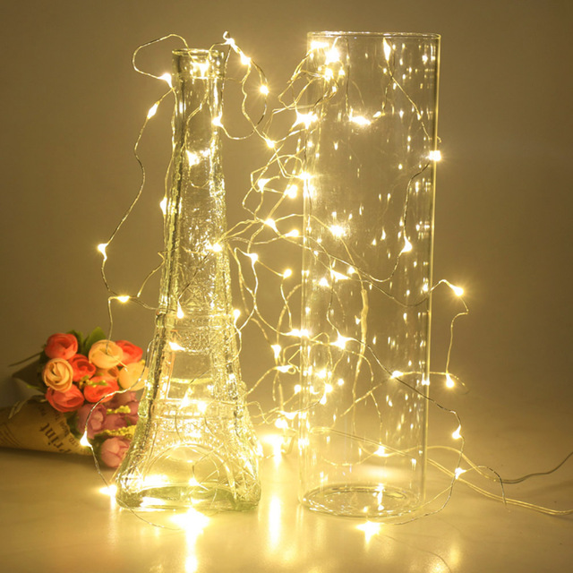 2M 5M 10M LED String Light LED Fairy Lights battery power For Christmas tree Garland Holiday Wedding Party New Year Decoration