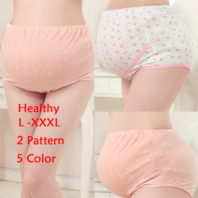 L-XXXL Women's Cotton Pregnant High Waist Underwear Briefs Maternity Panties Intimates Empire Waist Pregnancy Underwear