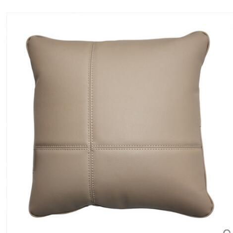 solid color pu cushion cover decorative pu leather throw pillow case sofa pillow covers home decoration