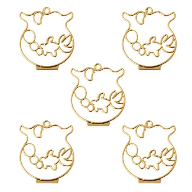 5Pcs Goldfish Bowl Frame Pendant Open Bezel Blank Setting UV Resin Jewelry Charm Findings