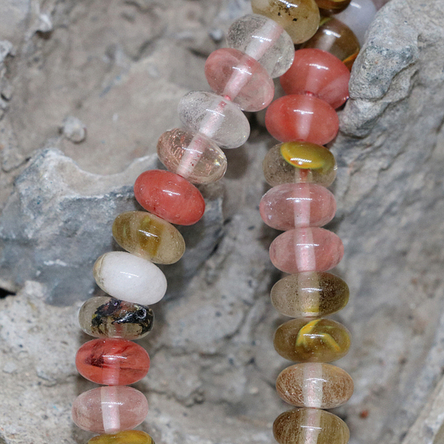 Multicolor Watermelon Tourmaline Crystal 4x6mm 5x8mm Rondelle Abacus Stone Loose Beads High Grade Jewelry 15inch GE167