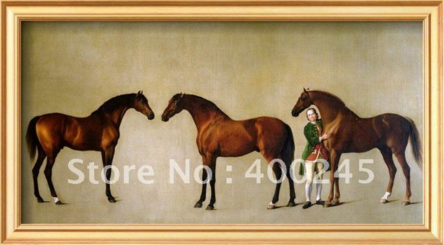 High Quality Horse oil painting on canvas Whistlejacket and Two Stallion with Simon Cobb Groomby George Stubbs 100%handmade