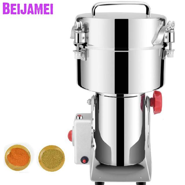 BEIJAMEI 2500g commercial herb chili to powder grinder/110v 220v electric grinding medicine grain pepper machines for sale