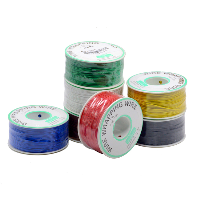 250m/lots 30 AWG Wrapping Wire 10 Colors Single Strand Copper Cable Ok Wire Electrical Wire for Laptop Motherboard PCB Solder