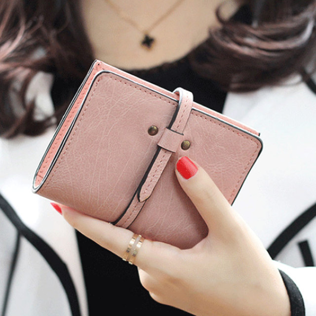 Fashion Women Mini Purse Leather Solid Color Ladies Girls Wallet Vintage Clutch Bag Card Holder Short Small Bags FA$B Women bag