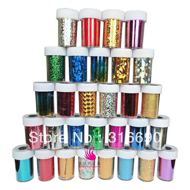 Very popular Hot selling Transfer Foils Nail Sticker Nail Art Tips Sticker Craft DIY Universe Decorations  (46 colors to choose)