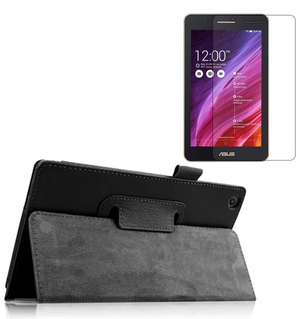 """New Luxury Folio Stand Leather Protective Case Cover +1x Clear Screen Protector For ASUS Zenpad C 7.0 Z170MG Z170C Z170CG 7"""""""