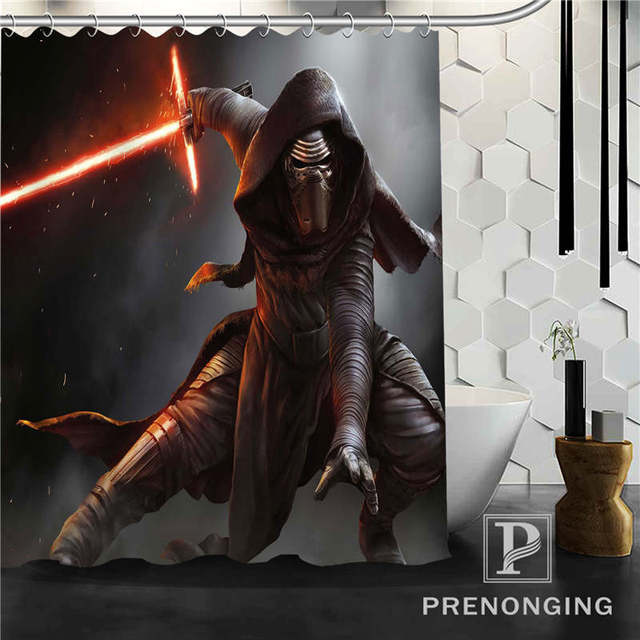 Personalized Custom Star War Movie Shower Curtain Home Decor Bathing Curtains Cloth Waterproof Polyester @W04 S171218-11