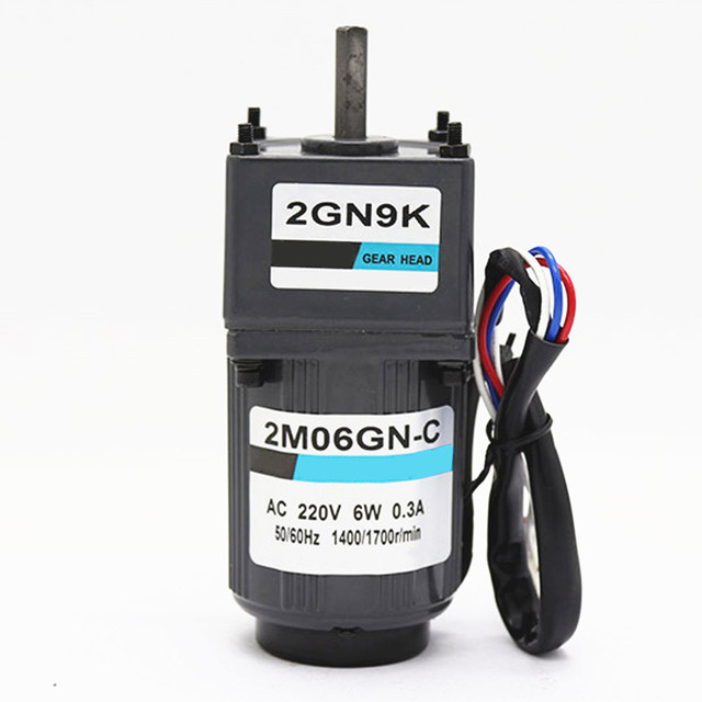 AC gear motor 220V 6W,single phase electric motor,low rpm electric motor 1350 rpm,Free Shipping J14468
