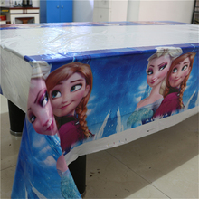 1pcs Frozen Party Supplies Map Supplies Disposable Tablecloth Kids Birthday Party Decoration
