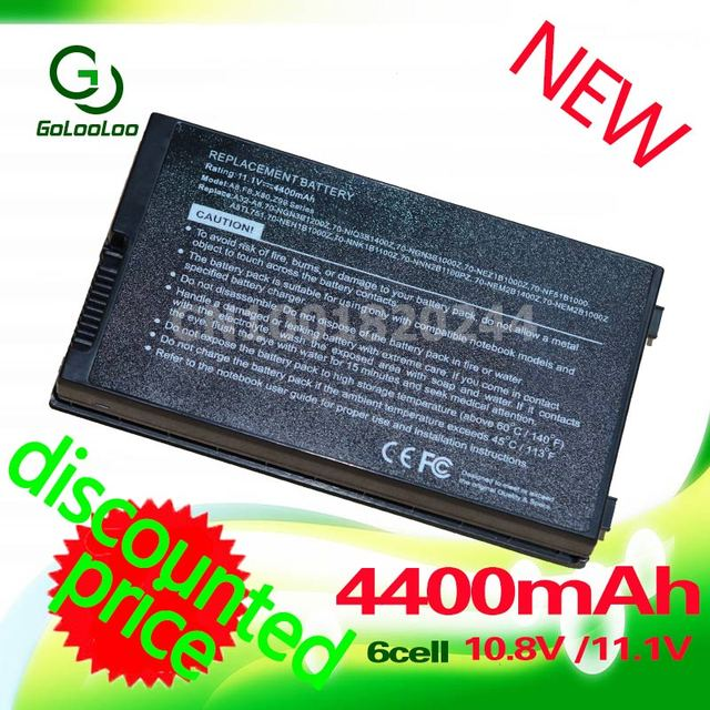 Golooloo 11.1v 4400MaH laptop Battery for Asus 70-NF51B1000 90-NF51B1000 90-NF51B1000Y 90-NNN1B1000Y NB-BAT-A8-NF51B1000 A32-A8