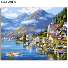 Seascape Frameless Picture Painting By Numbers DIY Canvas Oil Painting Home Decor For Living Room Wall Art GX6936 40*50cm