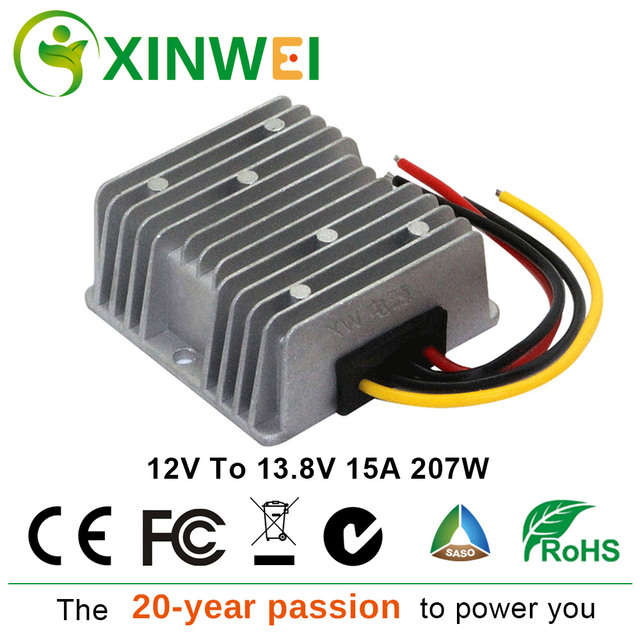 XINWEI 12V To 13.8V 15A 207W Step Up DC Power Converter New Type High Efficiency Power Supply Inverters & Converters For Speaker