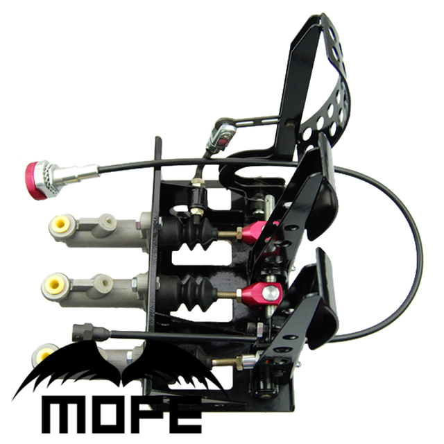 """MOFE Products HIGH QUALITY SPECIAL OFFER Master Cylinder 0.75"""" Hydraulic Clutch Brake Bias Floor Mounted Pedal Box Kit"""