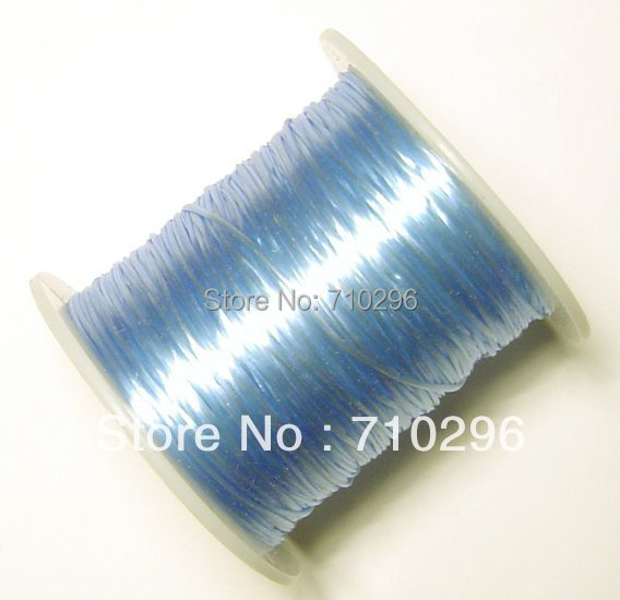 100 Metres high quality strong and Light Blue Elastic Beading Wire