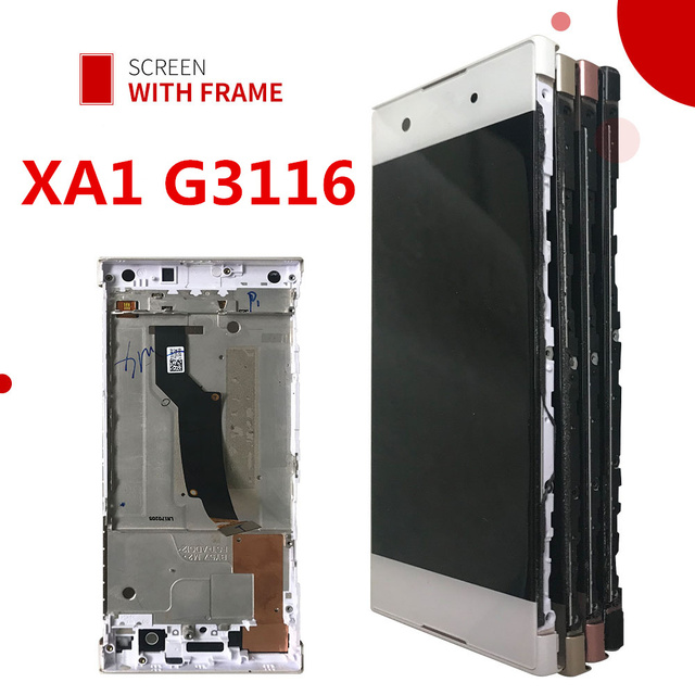 For Sony Xperia XA1 LCD Display Touch Screen Digitizer Assembly Replacement For SONY G3121 G3112 G3115 XA1 Dual LCD with frame