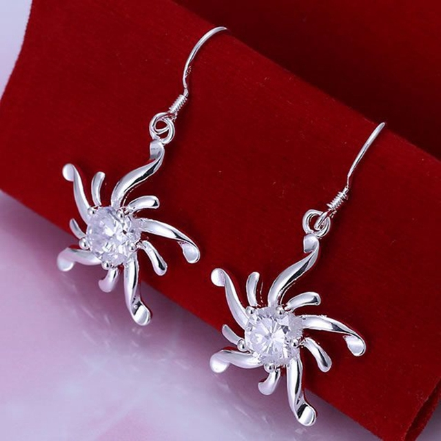 925 jewelry silver plated ,fashion jewelry For Women, Inlaid Screw Earrings E213 /QXBVGCCK LJOXRSXL E213