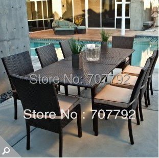 New Style outdoor family dinning table set