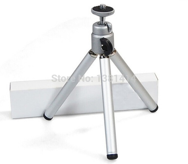 Hot Sale Mini Tripod Stand Silver Adjustable selfie stick For Camera stand Phone Video Projector Floor Stand Foot gopro monopod
