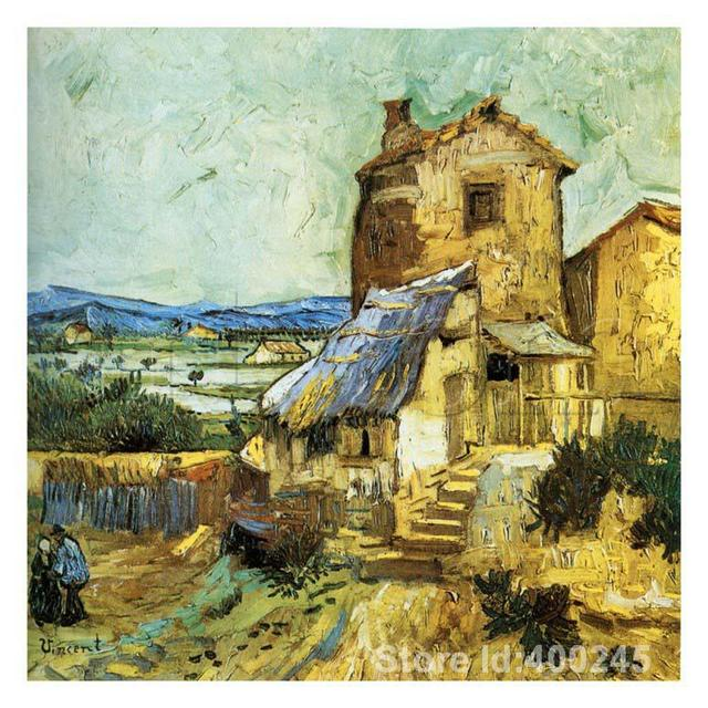 Online Art Gallery Vincent Van Gogh house oil paintings Le Vieux Moulin Handmade High quality