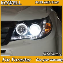 KOWELL Car Styling For Subaru Forester 2008-2012 Headlights LED Headlight Angel Eyes DRL HID Xenon Low Beam bi xenon lens