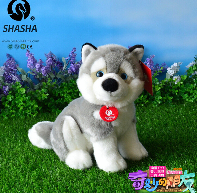 Husky Doll  Stuffed Animal Toy  Simulation Plush Toys For Children  Boy Gift  High Quality