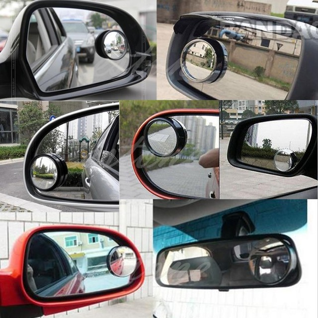 hot NEW Round Wide Angle Convex Blind Spot Mirror Rear View Messaging Car Vehicle BK C45