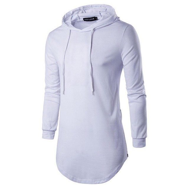 Spring Autumn New Men Sweatshirt Long Sleeve Mens Casual Slim Hooded Pullover Fashion Solid Color Sweatshirts