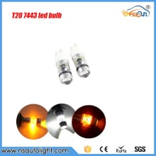 2pcs 75w super bright T20 led 7443 w21/5w led light car tail brake stop reserve auto lamp bulb 12V car styling