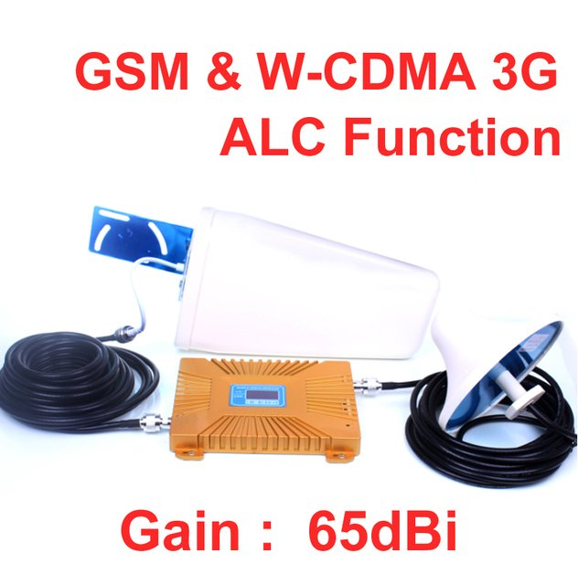 GSM booster dual band GSM900&WCDMA2100MHz ALC function lower noice 15M Cable+Antenna,900mhz booster phone repeater,phone booster