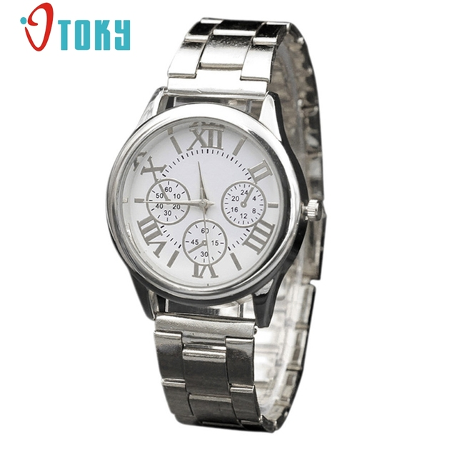 OTOKY Silver Women Watches Luxury Montre Femme Stainless Steel Dress Woman Wrist Watches #30 Gift 1pc