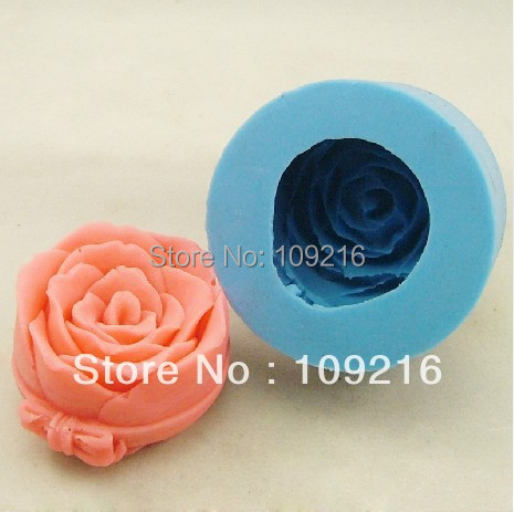 wholesale!!! 3D Rose with Columnar(H0189)  Silicone Handmade Candle Mold Crafts DIY Mold