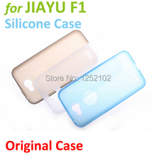 Free Shipping Original JIAYU F1 Silicone Case for JIAYU F1 phone  Protective Case Soft Case Free gift 1pc Screen Protector