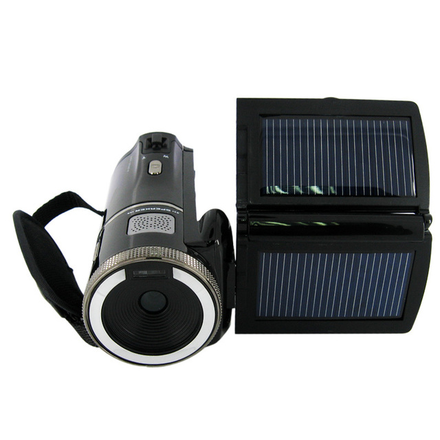 16Mp Max 720P HD Solar Digital Video Camera with 8x Digital Zoom and Rechargeable Lithium Battery, Free Shipping