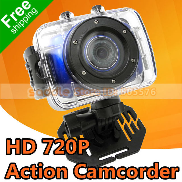 "Action Camcorder , Mini Sports Bicycle DVR Camera with 2.0"" LCD + 1.3MP CMOS + HD 720P + Waterproof Case + Free Shipping !"
