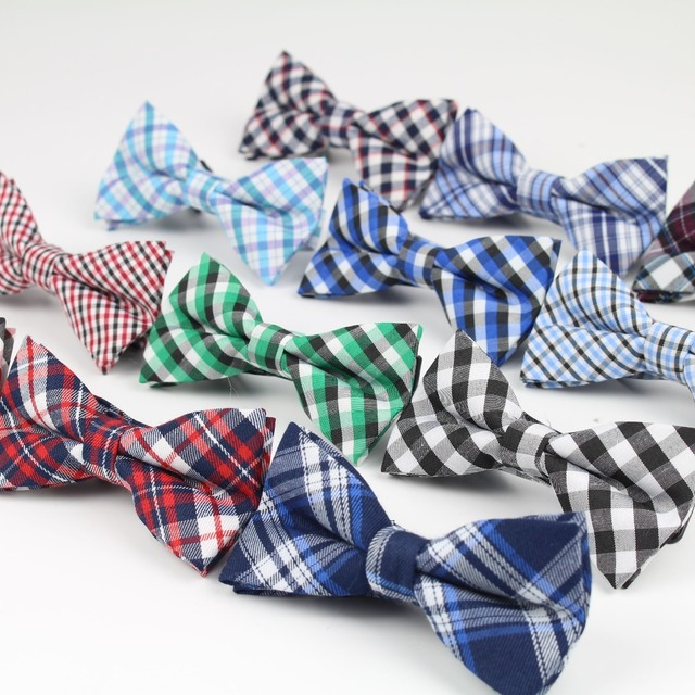 Children Fashion Formal Cotton Bow Tie Kid Classical Striped Bowties Colorful Butterfly Wedding Party Bowtie Pet Tuxedo Ties