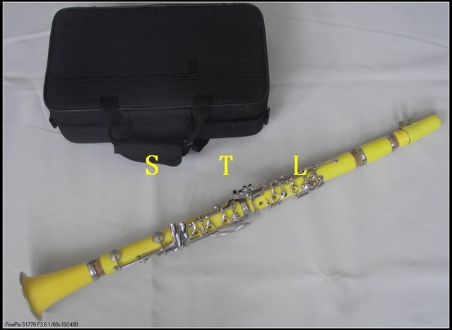 High quality Bb clarinet Yellow Color Good material