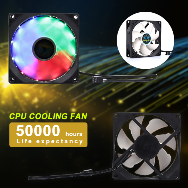 Premium Cpu Case Fan Heatsink Cooler Coloured Lights Case Fan Heatsink Heat Dissipation Portable CPU Cooler Fan Holder