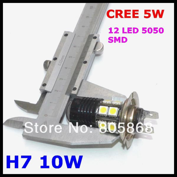 H7 Led Fog Light, Headlight, Cree chips led Lamp, Q5+ 12 Smd=10w Light Car Bulb fog lamp H7,h8,h9,h10,h11,9005,9006